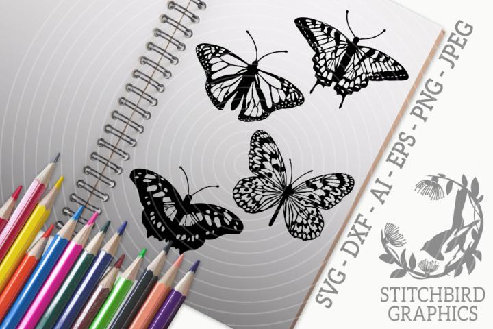 Butterflies Bundle SVG, Silhouette Studio, Cricut, Eps, JPEG
