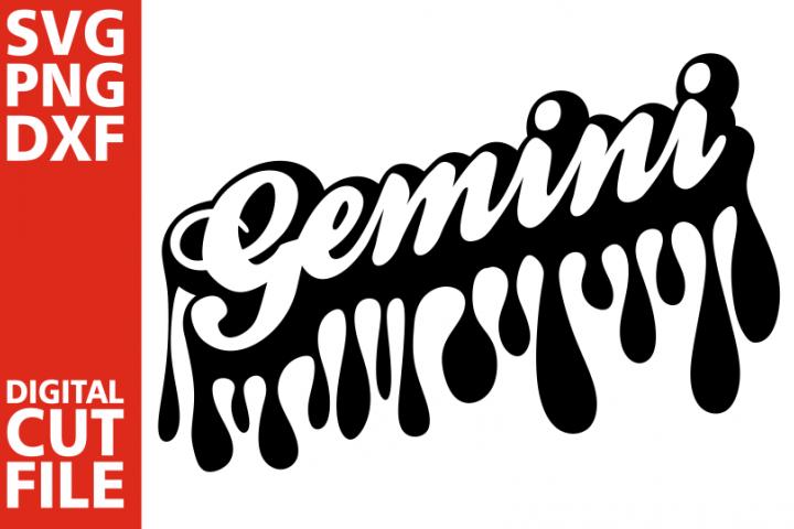 Gemini svg,Dripping words, Zodiac sign svg, Black Girl svg