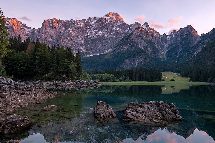 Summer evening at Fusine