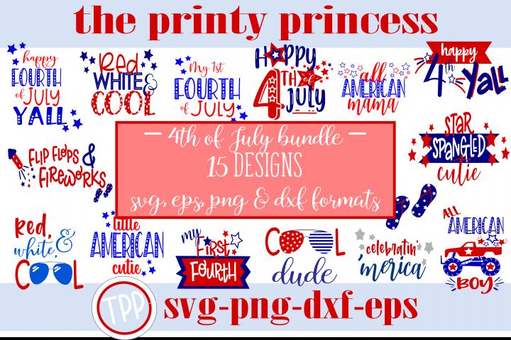 HUGE 4th of July Bundle, 15 Fourth of July designs