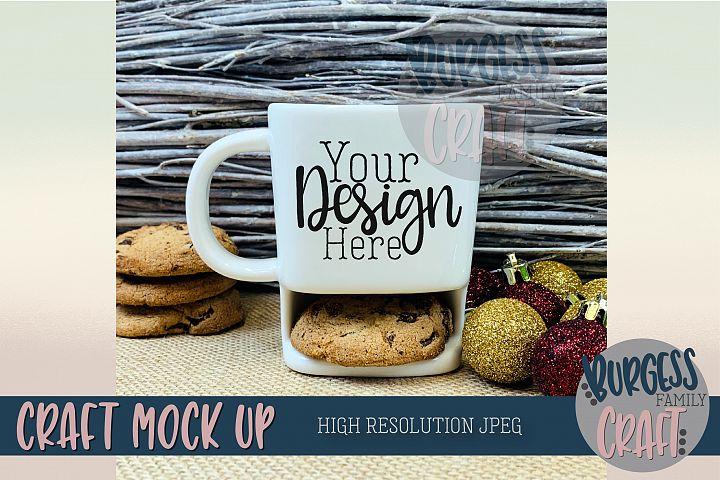 Christmas cookie mug Craft mock up  High Res JPEG