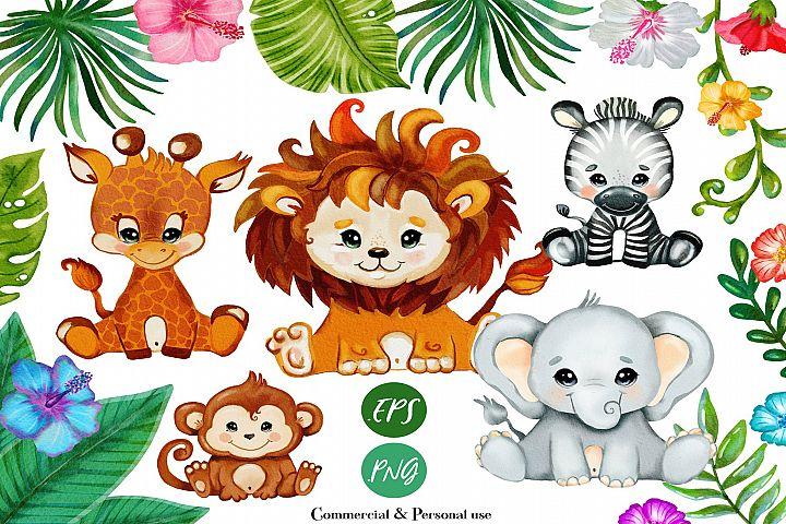 Safari baby animals, svg files for cricut, clip art