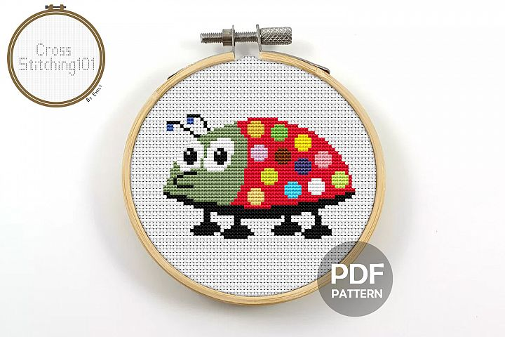 Baby Bug Cross Stitch Pattern - Instant Download PDF