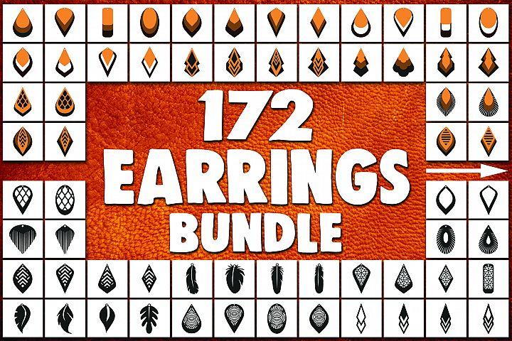 172 Earrings template SVG - Cut files - Leather earrings SVG