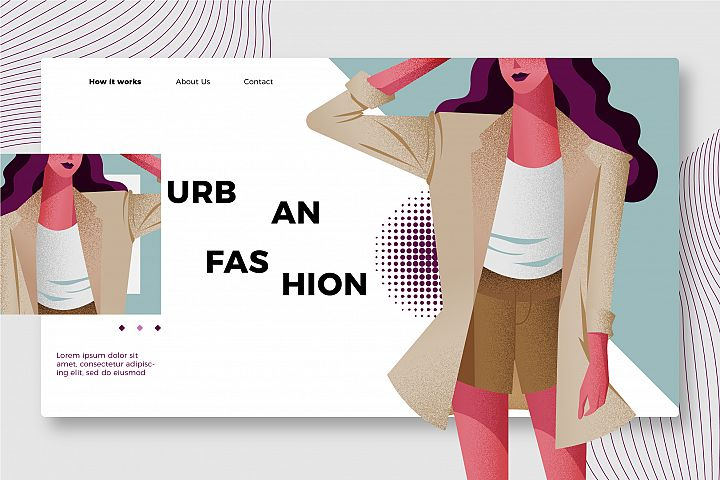 Urban Fashion - Banner &Landing Page