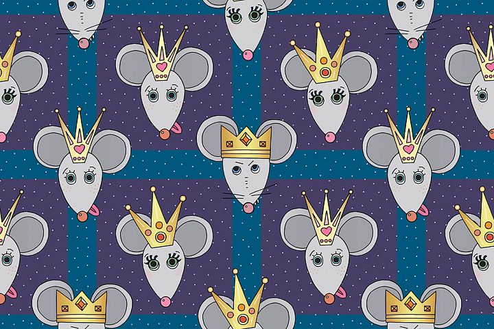 Rat vector illustrations and patterns