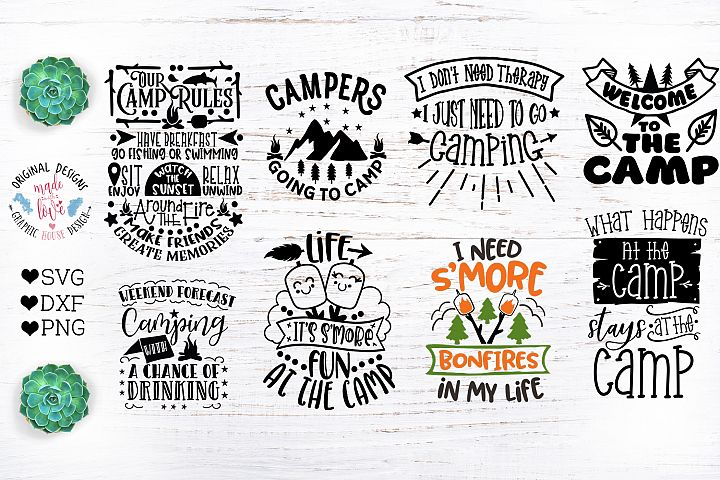 Camp Quotes Bundle - Camping Cut Files