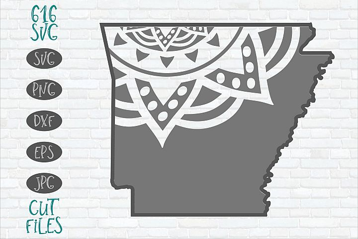 Arkansas Mandala SVG