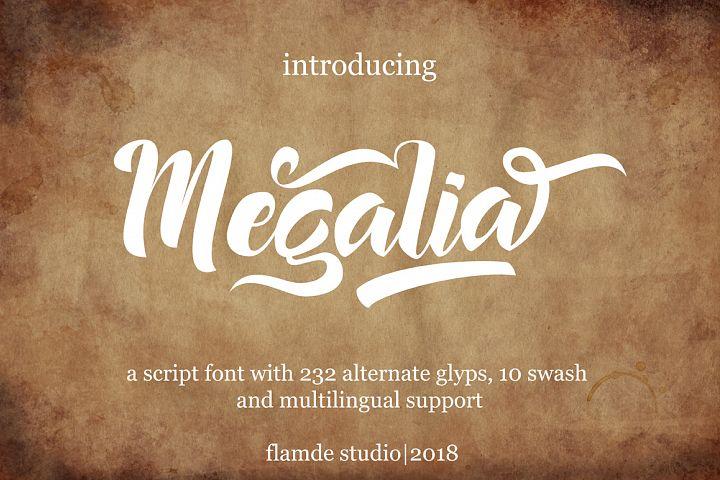 Megalia - Script Font