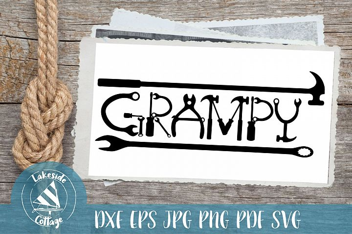 Grampy Tools - fathers day svg - gigi svg - grandfather svg
