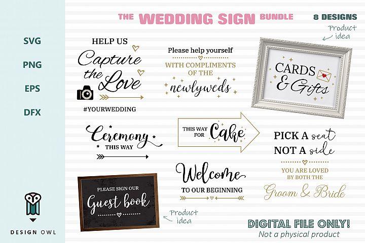 The wedding sign bundle - Wedding SVG cut files