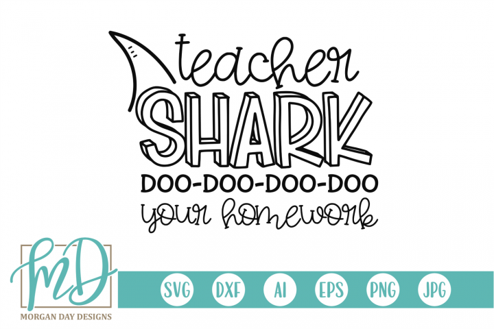 Homework - Back To School - Teacher Shark SVG