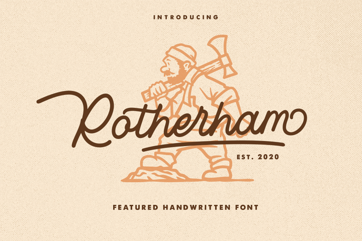 Rotherham Signature Font Typeface