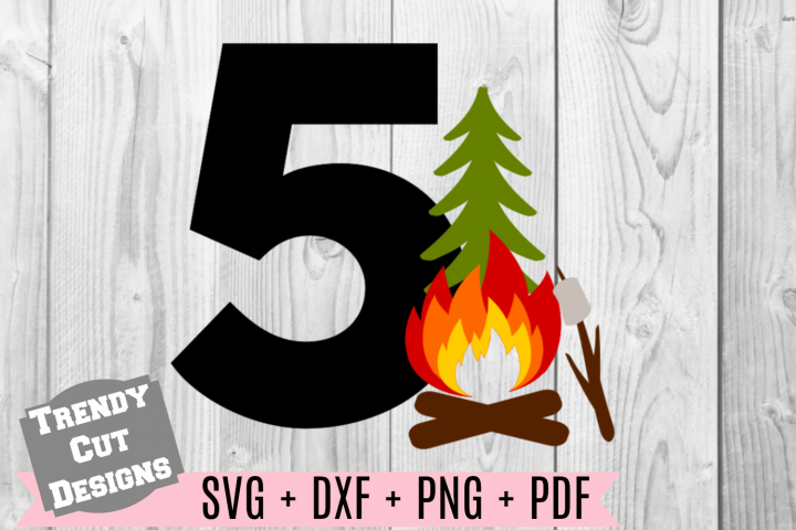 5th Campfire Birthday Set SVG