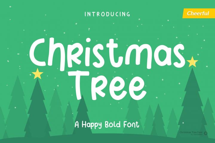 Christmas Tree - Fun Holiday Font