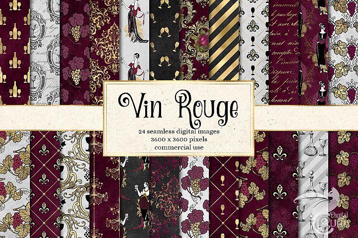 Vin Rouge Digital Paper