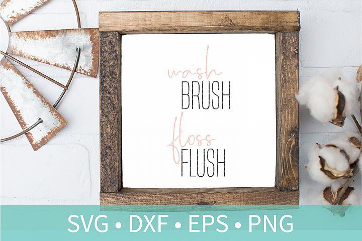 Wash Brush Floss Flush SVG DXF EPS PNG Clipart Cut File