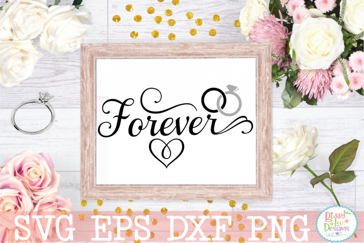 Forever Wedding SVG Cut file