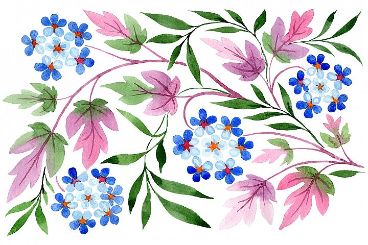 Classic watercolor ornament png