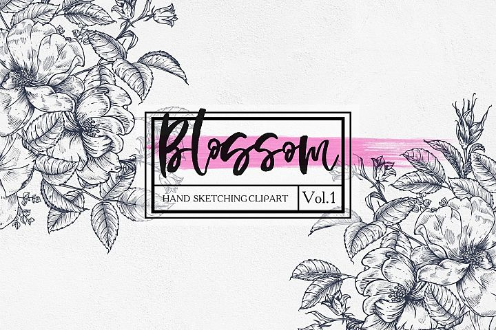 Blossom.Vol.1 - graphic botanical set