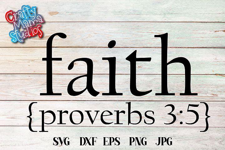 Faith Proverbs 3 5 SVG, Faith In God SVG
