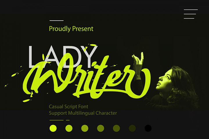 Lady Writer Casual Script Font