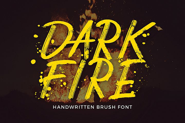 Dark Fire Brush Font