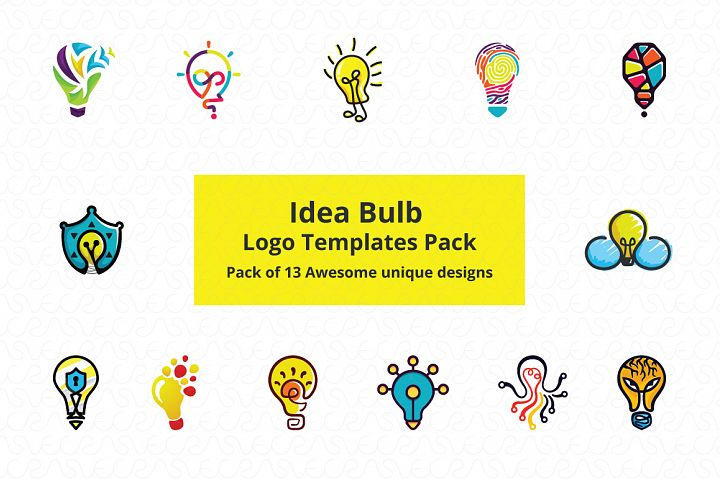 Ideas Bulb Logo Templates Pack of 13 Awesome unique designs