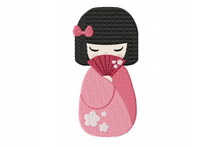 Japanese Geisha 1 ~ ~ Machine Embroidery Design ~ Instant Download
