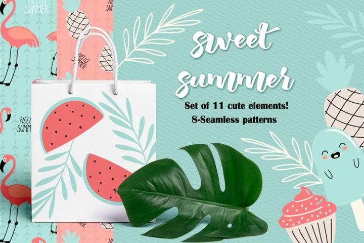 set of pastel digital paper, patterns, digital pastel drawin