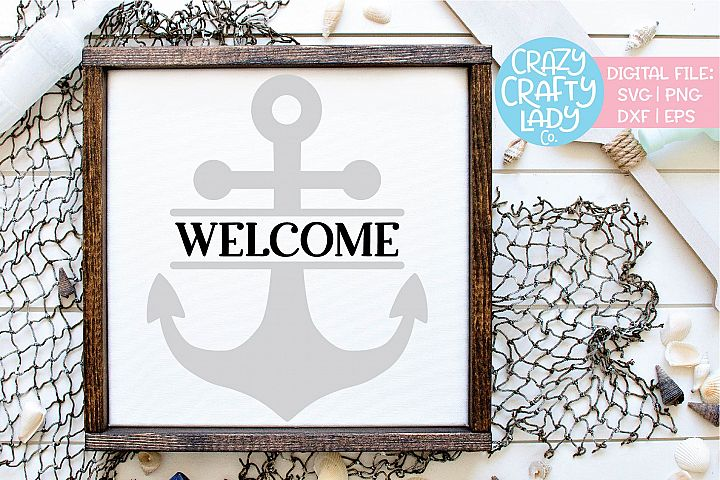 Welcome Anchor Summer SVG DXF EPS PNG Cut File