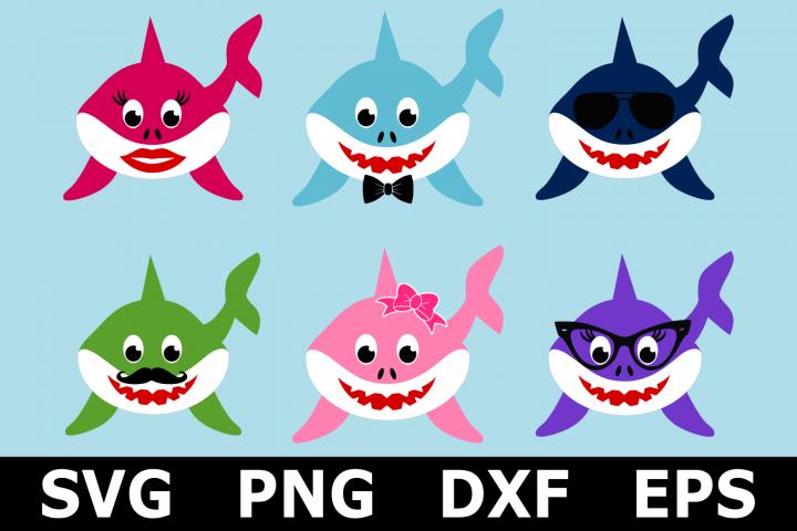 Shark Family Bundle - An Animal SVG Cut File