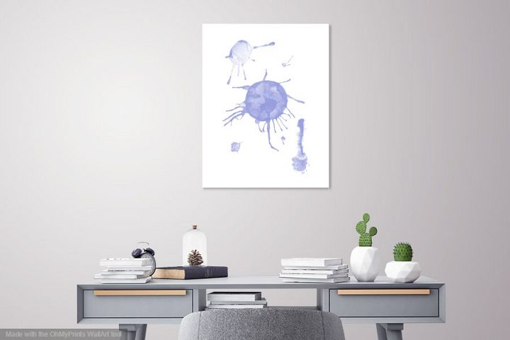 Abstract printable watercolour wall art, Minimalist painting