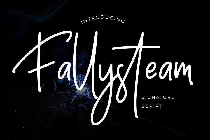 Fallysteam Signature Script Font