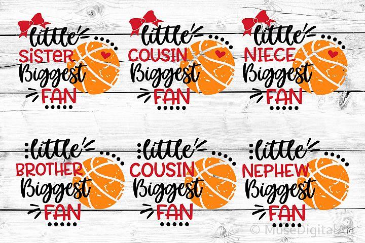 Basketball Svg Bundle, Biggest Fan Svg Girl Basketball Shirt
