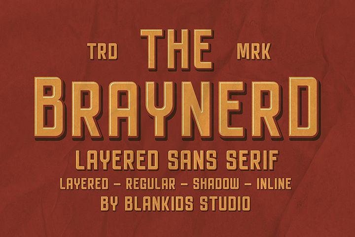 Braynerd - Layered Sans Serif