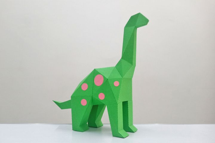 DIY Brontosaurus Sculpture - 3d papercraft
