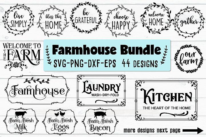 Farmhouse Bundle - SVG, PNG, EPS, DXF