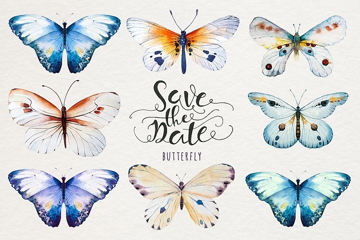 Watercolor butterfly DIY