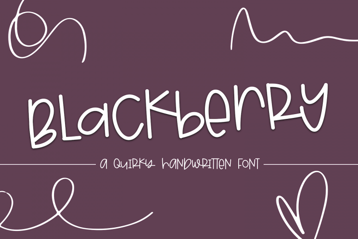 Blackberry - A Fun & Mismatched Font