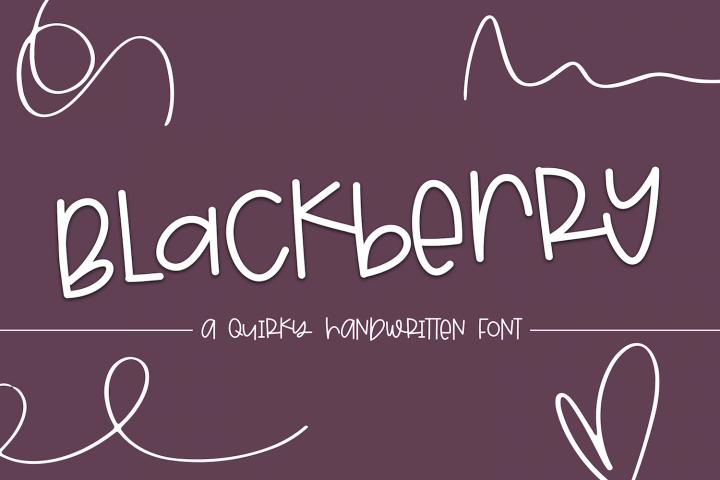 Blackberry - A Fun & Mismatched Font