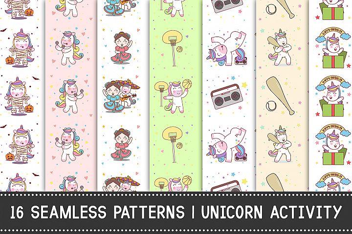 16 Seamless Pattern   Unicorn Activity