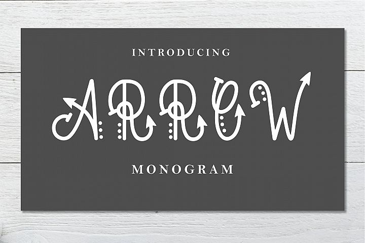 Arrow Monogram