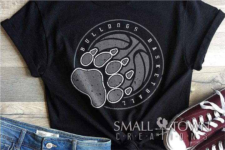 Bulldog basketball, bulldog mascot, team, PRINT, CUT, DESIGN