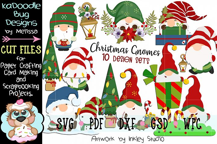 Winter Christmas Gnome Bundle - 10 Cut Files SVG