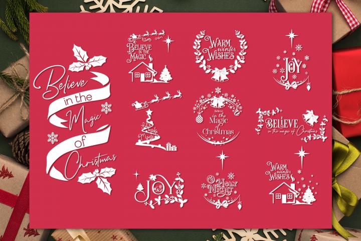 Christmas Quotes Bundle   Christmas SVG Cut Files
