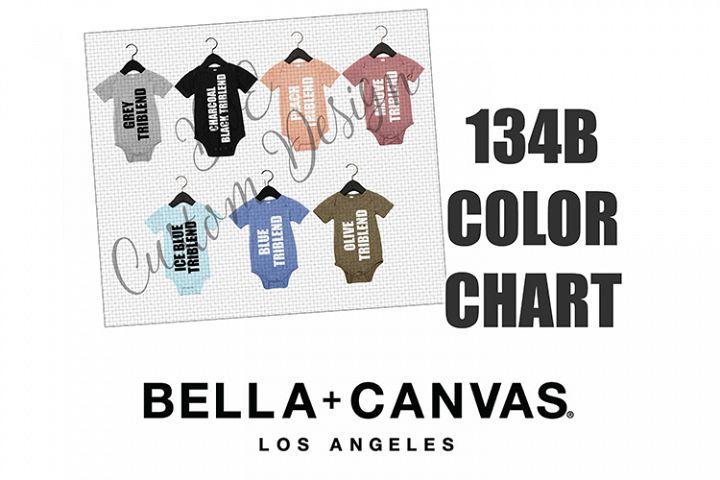 Bella 134B Baby Bodysuit One Piece Color Chart