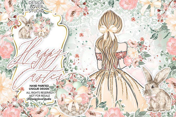 Easter Girl design