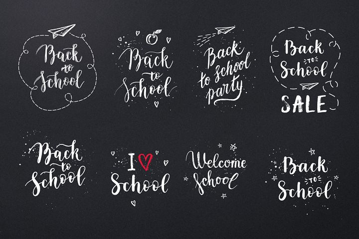 8 School overlays & logo