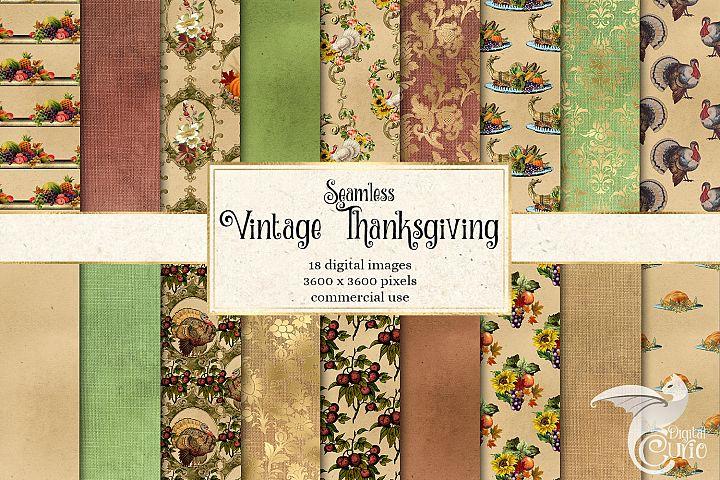 Vintage Thanksgiving Digital Paper